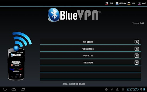 BlueVPN [DUN client] - screenshot thumbnail