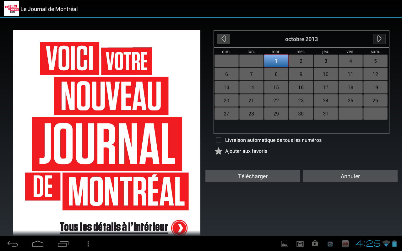 Journal de Montréal - éditionE- screenshot