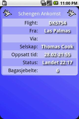 Flytider Norge- screenshot