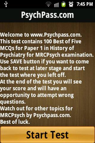 MRCPsych History Paper 1
