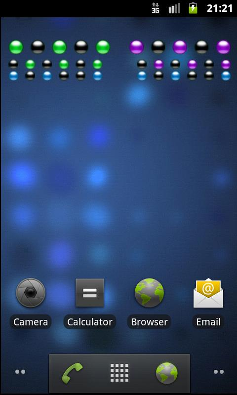 Binary Clock Widget - screenshot