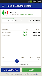 Xoom Money Transfer - screenshot thumbnail