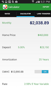 MortgageDeliveryGuy Calculator - screenshot thumbnail