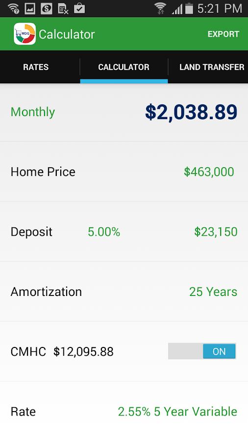MortgageDeliveryGuy Calculator- screenshot