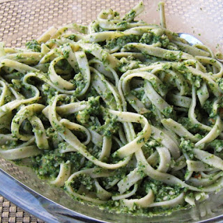 Fettuccine With Arugula Pesto