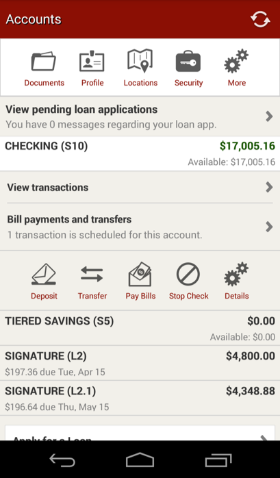 SF Fire CU Mobile Banking- screenshot