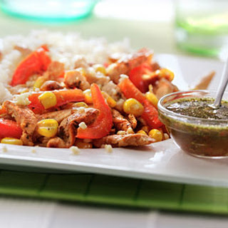 Argentijnse Kip Chimichurri met mais en paprika