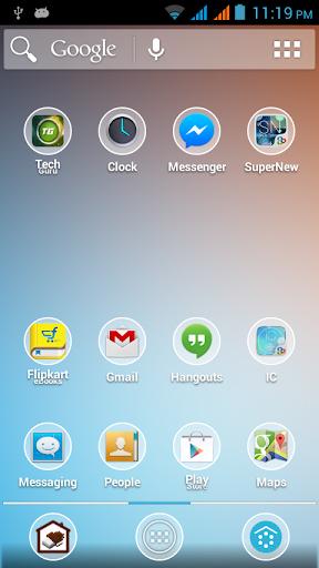 玩個人化App|Blurry Kitkat Round Theme Pack免費|APP試玩