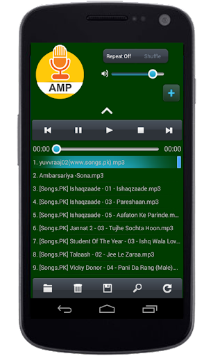 Audio Music Player App