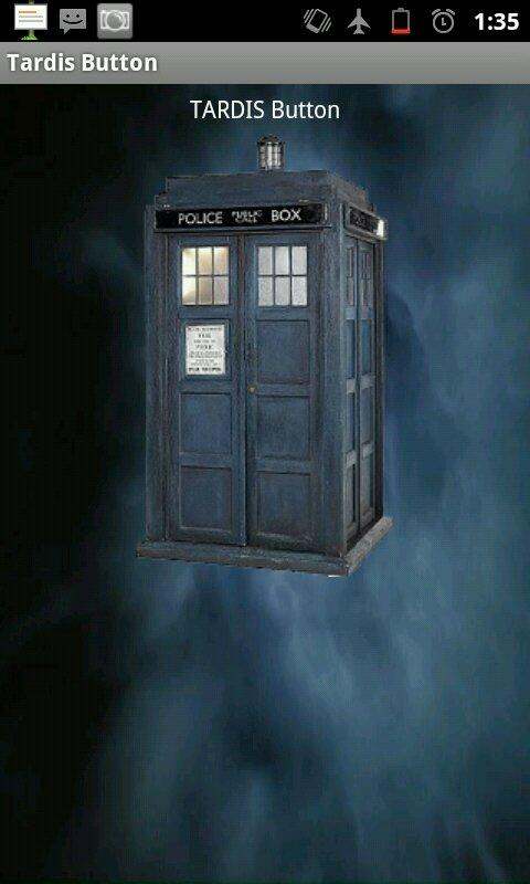Tardis Button - screenshot