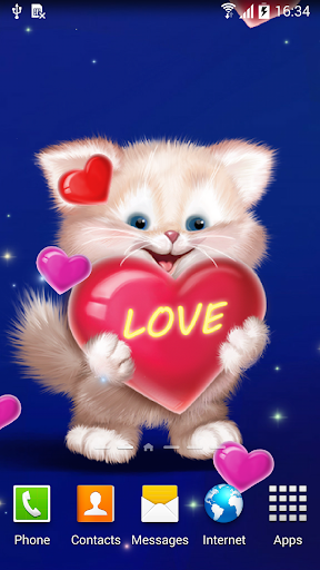 mod Cute Cat Live Wallpaper 1.0.7 screenshots 1