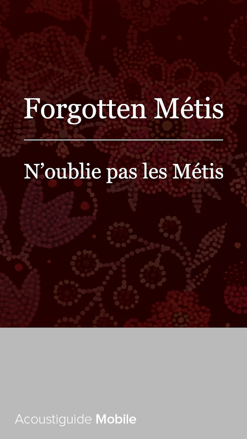 Forgotten Métis- screenshot