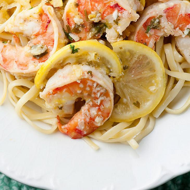 Lemon Shrimp Scampi with Linguine