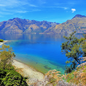Lake Wakatipu by Marion Metz - Landscapes Waterscapes ( wakatipu, queenstown, summer, sunshine, lake, walk, new zealand,  )