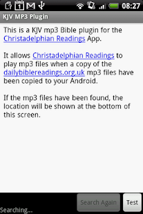 KJV Daily MP3 Plugin - screenshot thumbnail