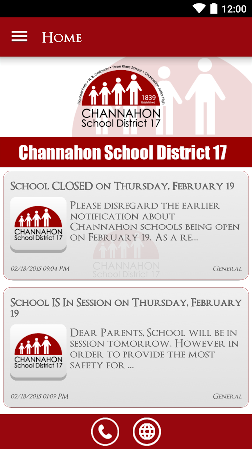 Channahon School District 17- screenshot