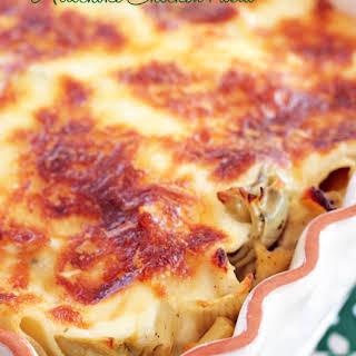 Baked Artichoke Chicken Pasta.
