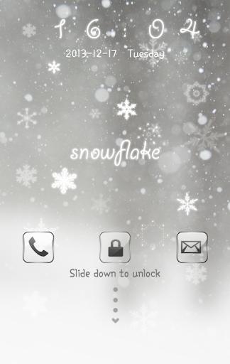 폰 테마샵 Snowflake 고락커
