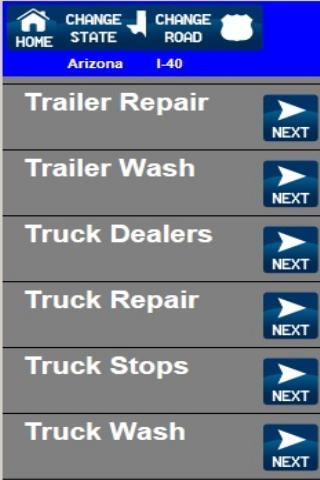 Truck Stops And Services- screenshot