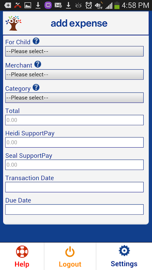 SupportPay - Child Support - screenshot