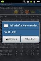 Screenshot of Temperatures  Vacation Planner