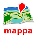 Creta Mapa mappa Desconectado icon