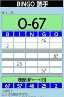 Screenshot of BINGO reader