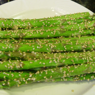 Roasted Sesame Garlic Asparagus