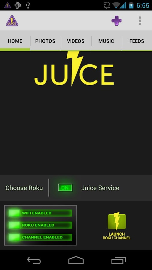 Juice for Roku DEMO- screenshot