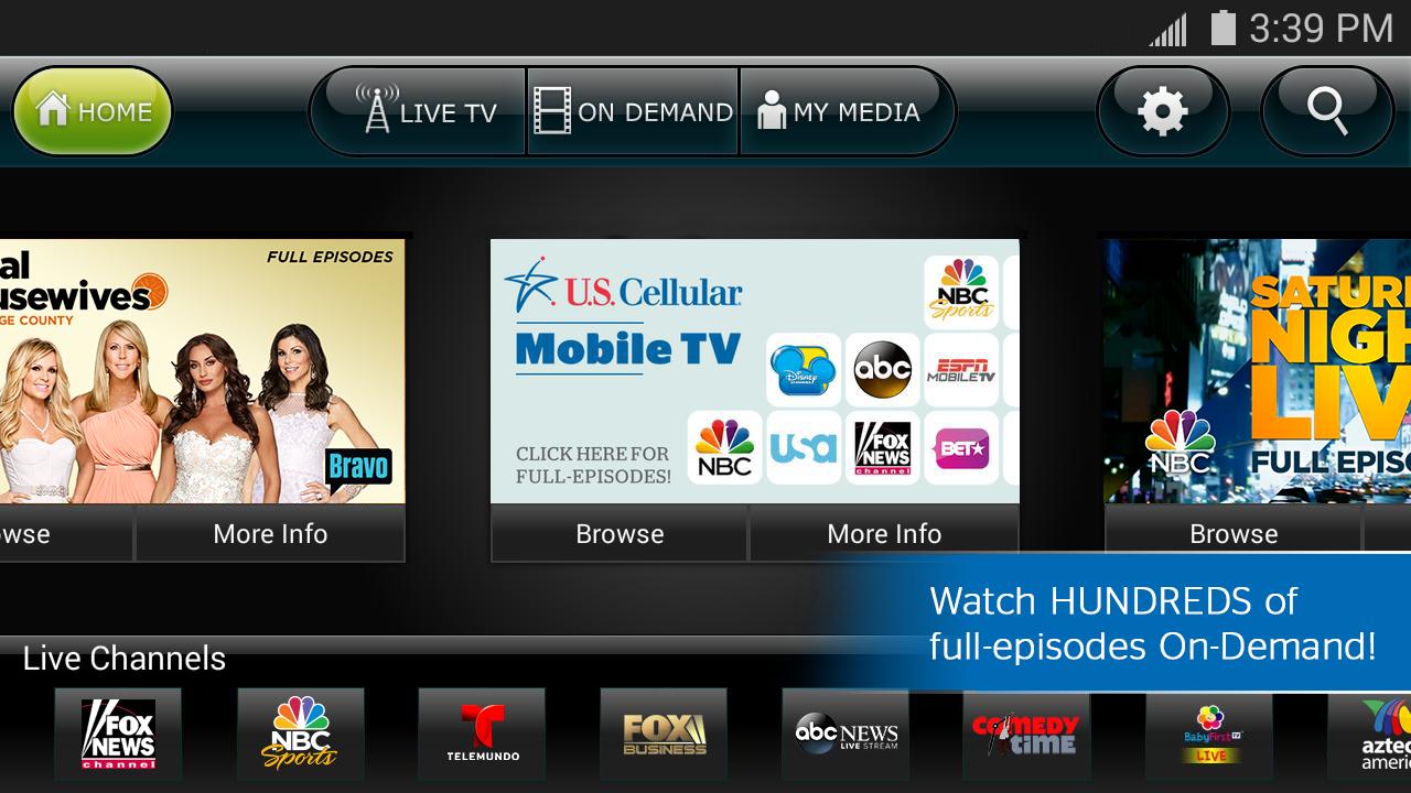 US Cellular Mobile TV- screenshot