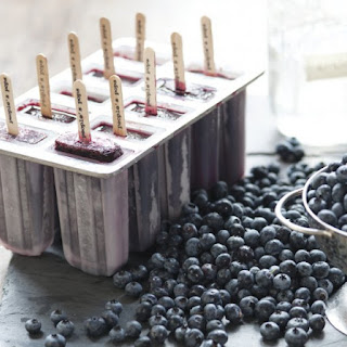 Blueberry Moonshine Popsicles.