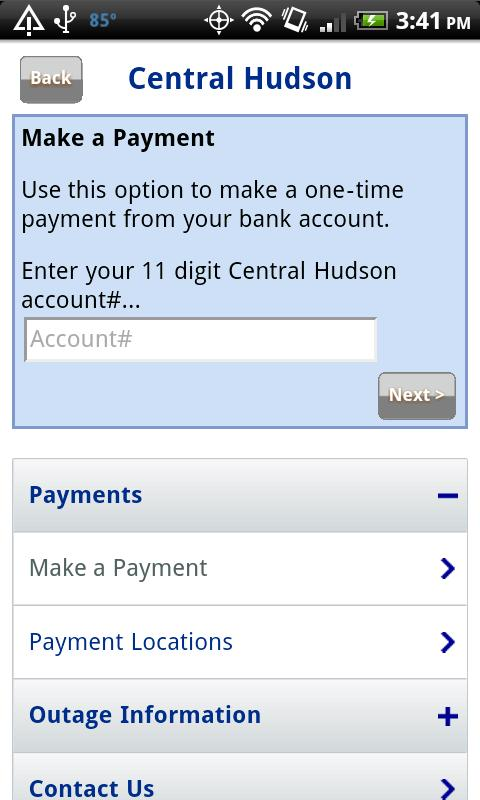 Central Hudson Mobile - screenshot