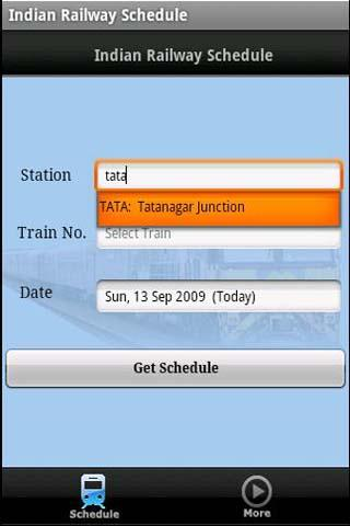 Indian Railway Schedule - screenshot