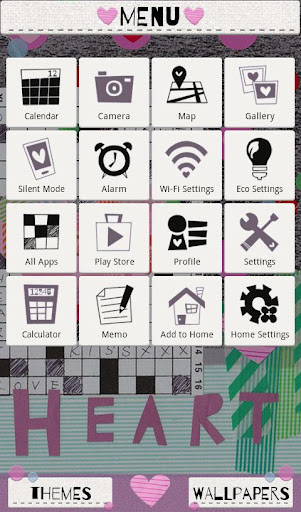 Collage Theme Crossword Heart 1.0 Windows u7528 3
