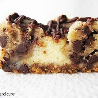 Chocolate Chip Cookie Dough Cheesecake Bars.