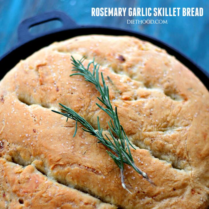 Rosemary and Garlic No-Knead Skillet Bread Recipe