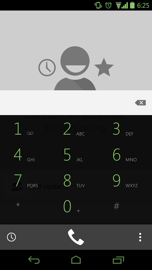 Faded Green CM11 AOKP Theme - screenshot