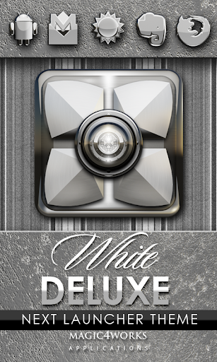 Next Launcher Theme White D