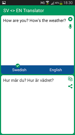 Swedish - English Translator