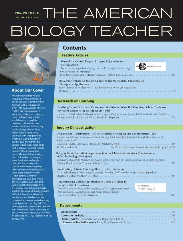 The American Biology Teacher- screenshot