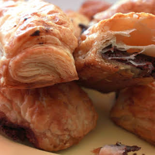 Chocolate Puff Pastry Pouches.