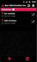 Screenshot of SMS Scheduler Lite