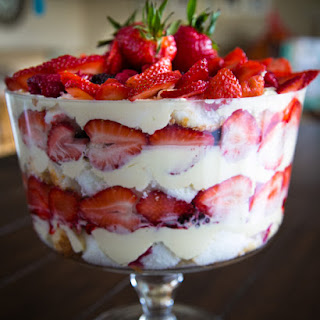Mixed Berry and Angel Food Trifle.