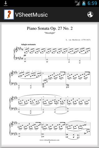 Virtual Sheet Music