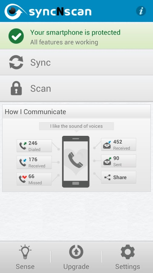 syncNscan - Security/Antivirus - screenshot