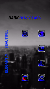 Dark Blue Glass icon pack v1.2.0