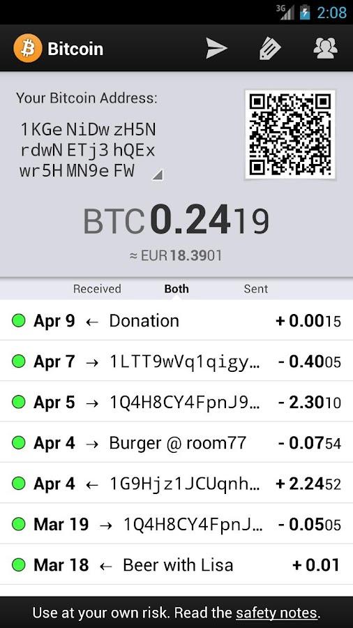 Bitcoin Wallet - screenshot