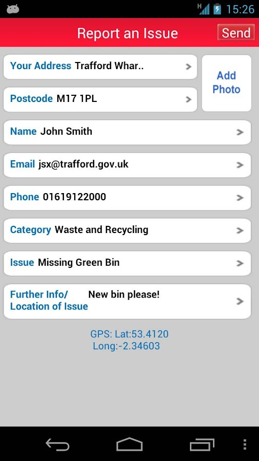 Trafford Council - screenshot