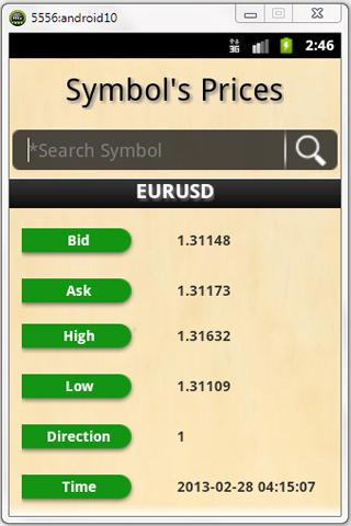 ForexTrading Android app - screenshot