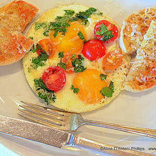 Grana Padano Caprese Eggs.